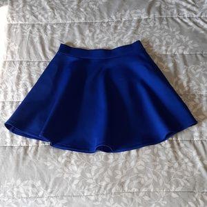 Forever 21 Blue Flared Skater Mini Skirt